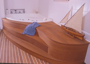 BATHROOM with TEAK